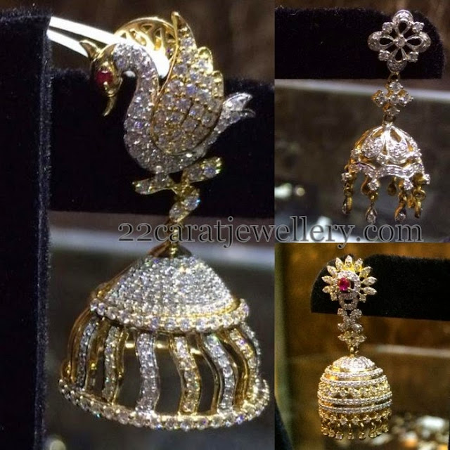 20 Grams Diamond Jhumkas