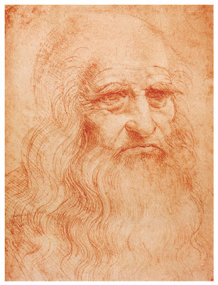 Leonardo Da Vinci Own Potrait Drawing