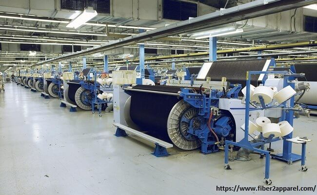 Denim fabric manufacturing factory