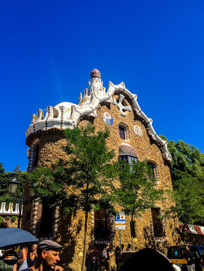 Park Guell Gaudi popular park in Barcelona.
