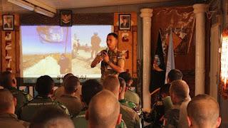 Foto: Paparan Satgas Indobatt (Dok. Puspen TNI)