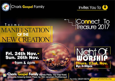 """EVENTS: Charis Gospel Family Presents """"Connect To Treasure 2017"""" 