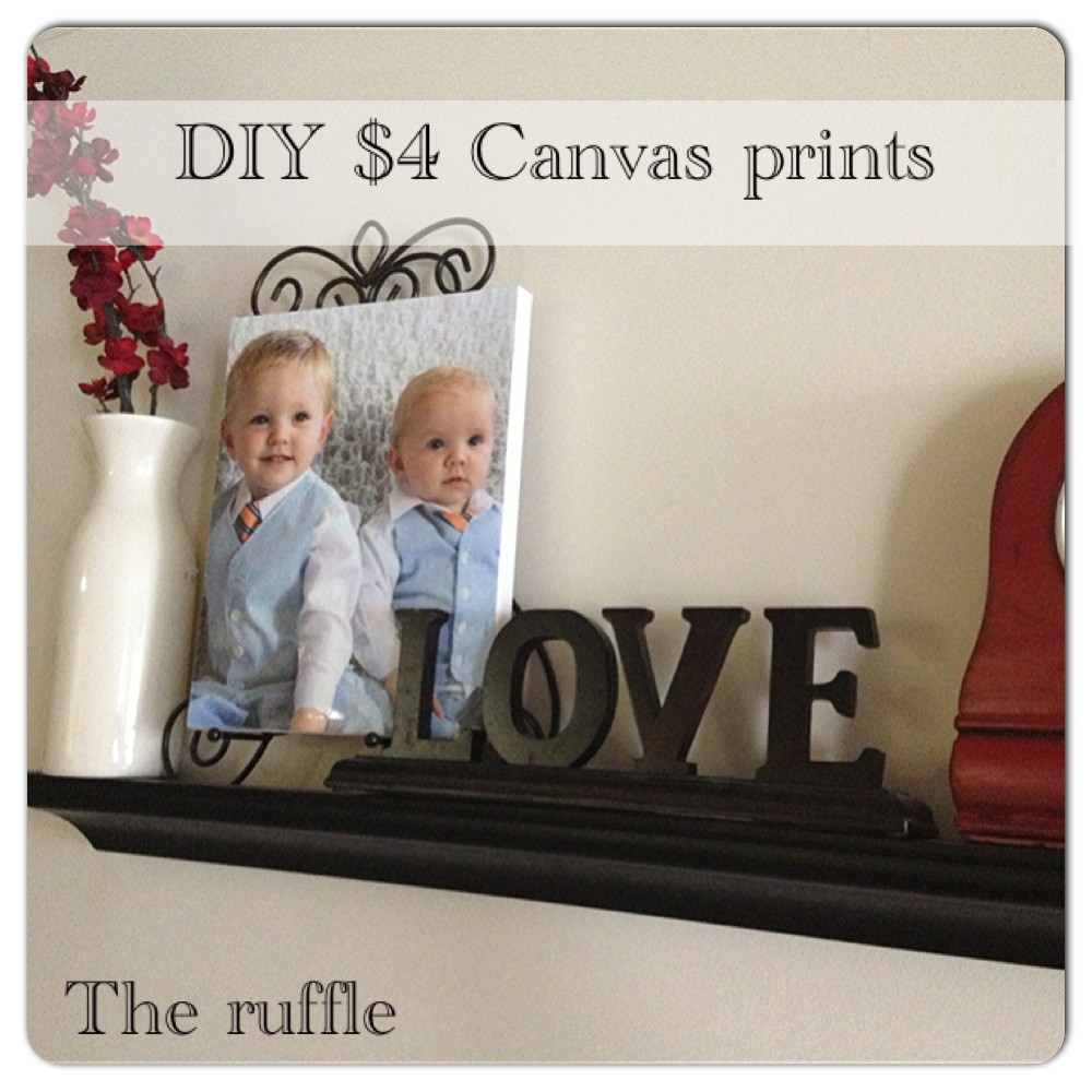 The Ruffle: DIY Canvas Prints