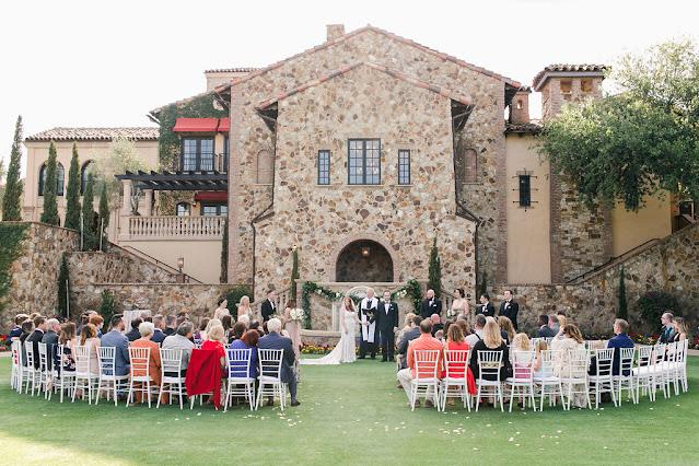 bella collina venue with guests