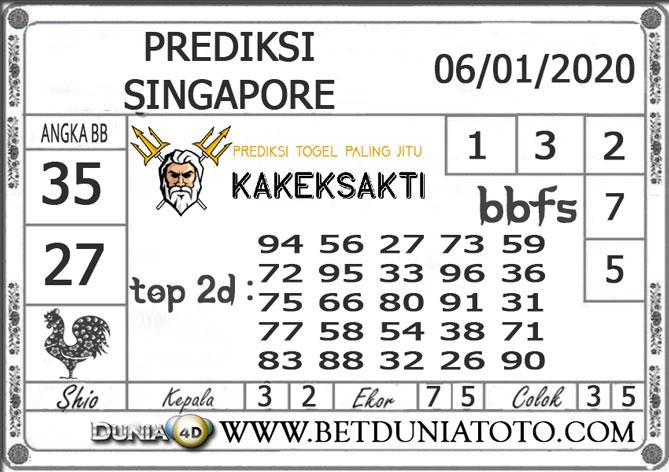 PREDIKSI TOGEL SINGAPORE DUNIA4D 06 JANUARI 2020