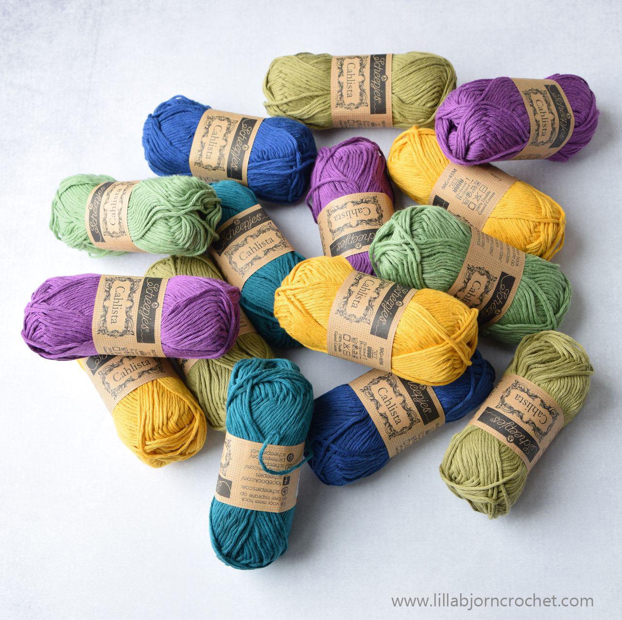 Cahlista yarn by Scheepjes - review - www.lillabjorncrochet.com
