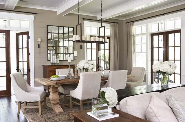 wood french doors white and cream interior design southern living