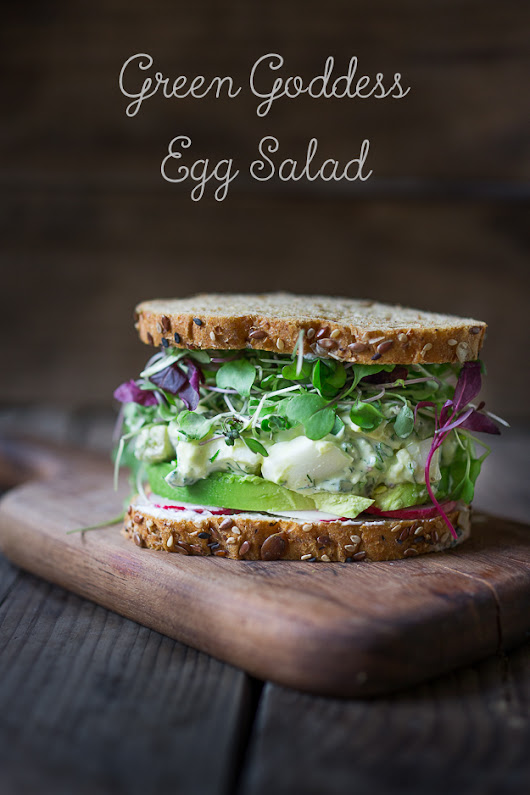 Green Goddess Egg Salad with Avocado