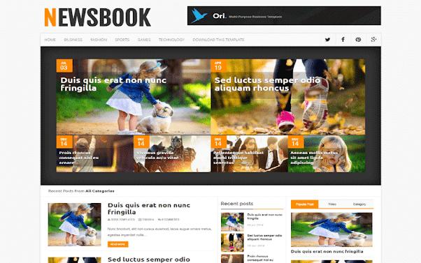 NewsBook Free Blogger Template