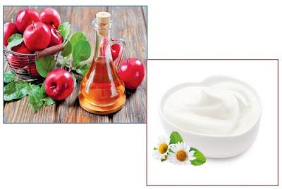 trị tàn nhang trên mặt bằng giấm táo và sữa chua