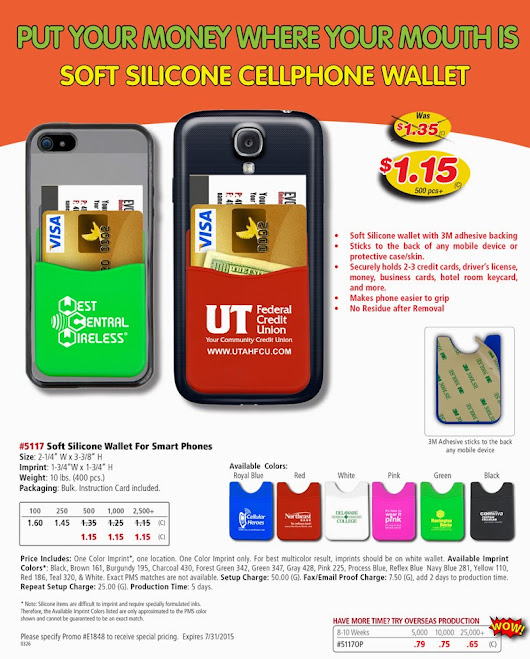 Promotional Cellphone Wallet - Soft Silicone