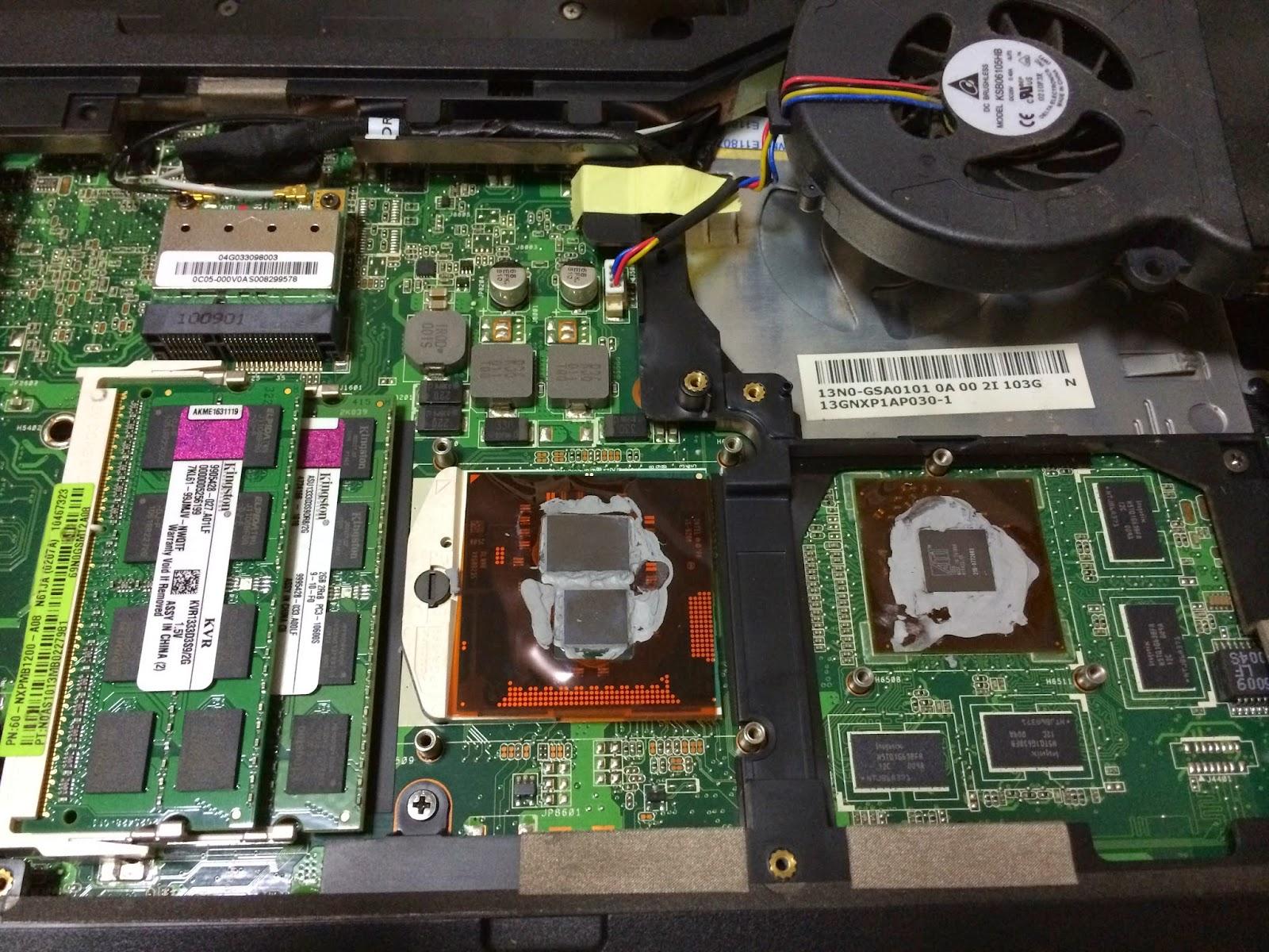 Leo's blog: CPU Too Hot: ASUS N61J Laptop DIY - Replace