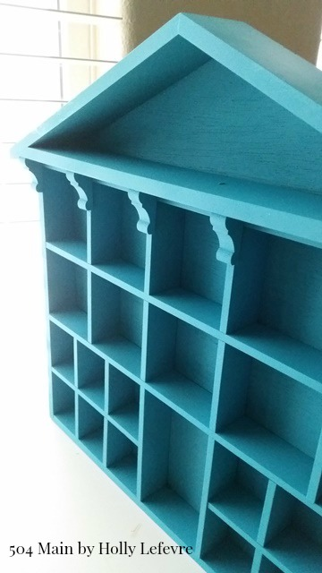 A bright blue chalky spray paint finish