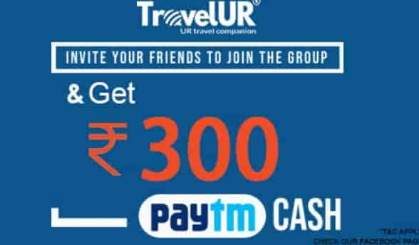 Travelur Create Group Invite and Earn Paytm Cash