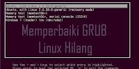 Cara Mengembalikan Grub Linux Hilang Akibat Install Dual Boot
