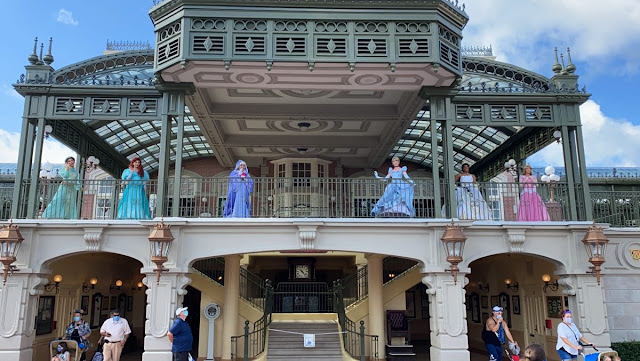 Character Cavalcades, Disney Princesses and Fairy Godmother, Disney Magic Kingdom Reopening Preview, Main Street, U.S.A. Re-imagined Meet and Greets, New Safety Precaution and Social-distancing Practice