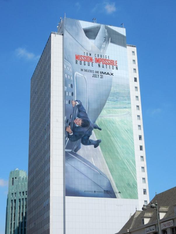Giant Mission Impossible Rogue Nation billboard