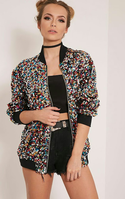 Multi sequence bomber jacket