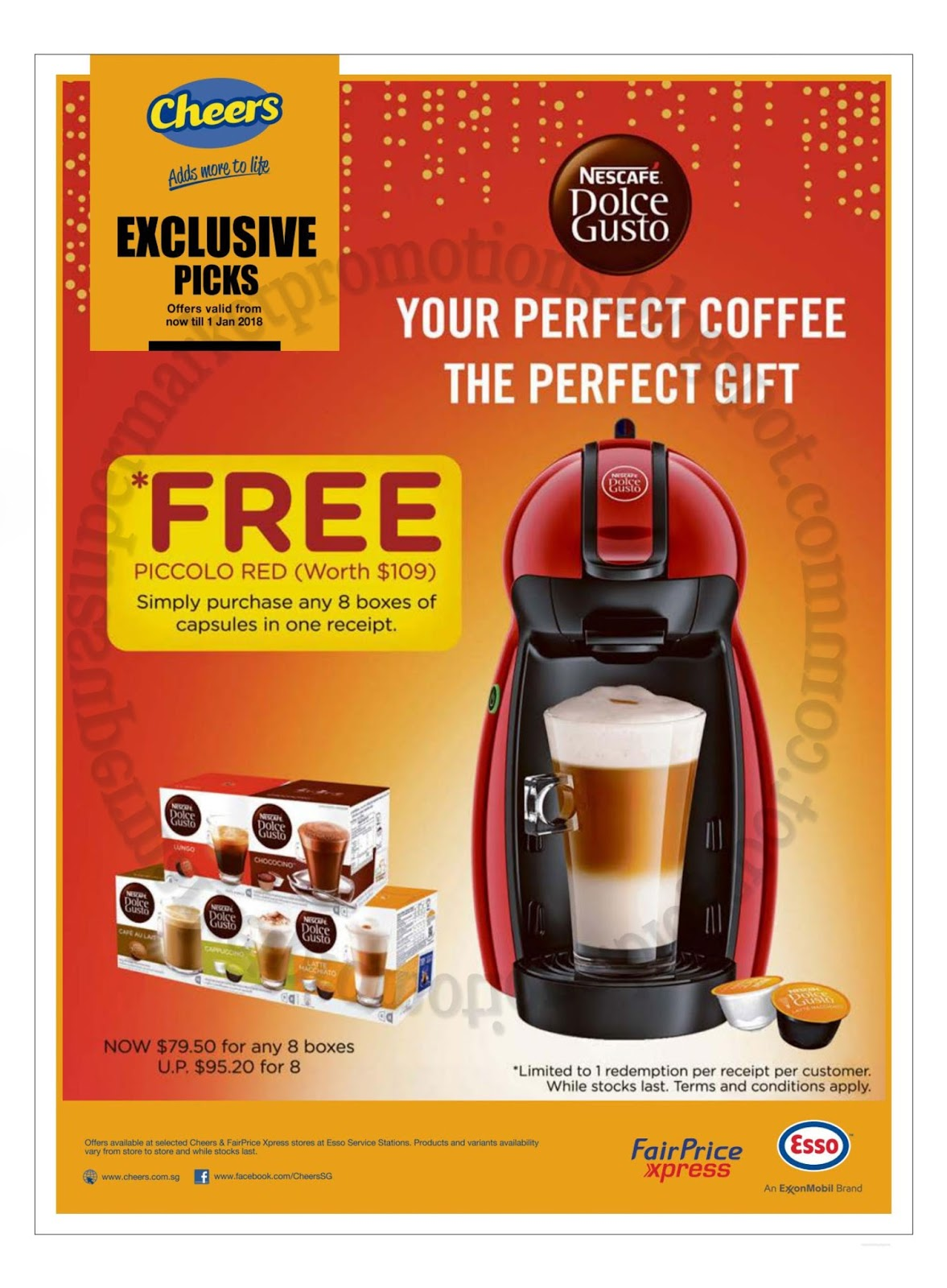 cheers nescafe dolce gusto promotion 12 december 2017 01 january 2018 supermarket promotions. Black Bedroom Furniture Sets. Home Design Ideas