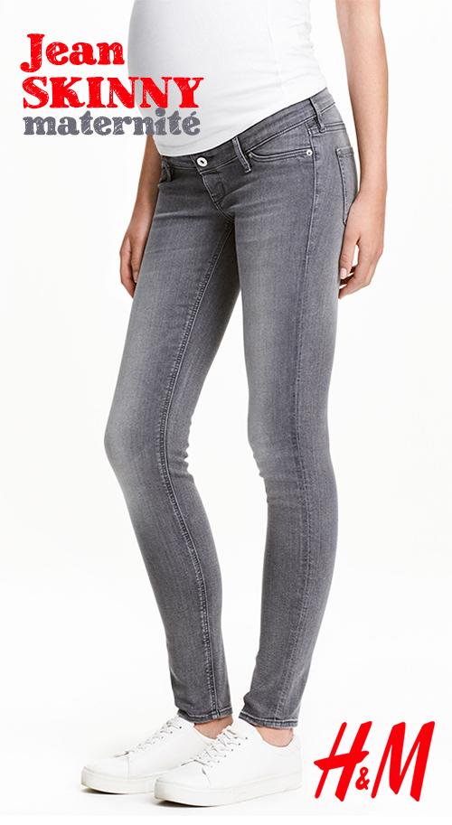 Jean maternité skinny gris H&M