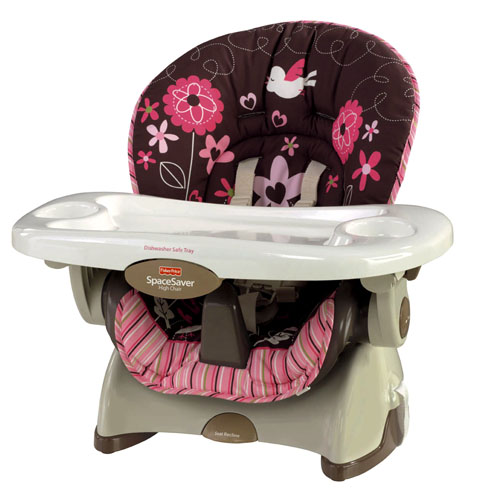 fisher price spacesaver high chair cover graco replacement parts the momaholic more love offers all same great benefits of a regular sized but doesn t take up any extra space seat
