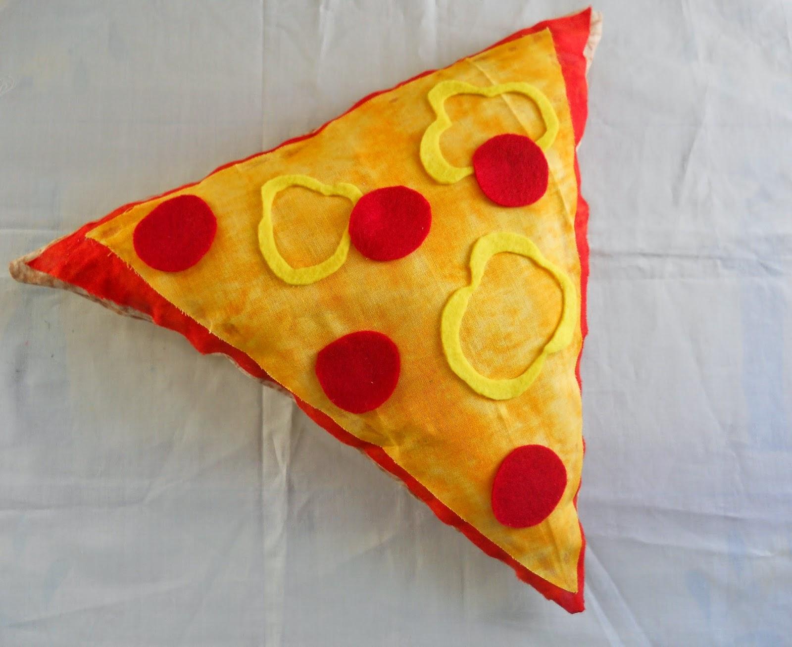 Running With A Glue Gun: No Sew Pizza Slice Pillow DIY
