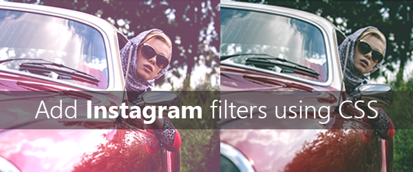 Instagram filters on images using CSS