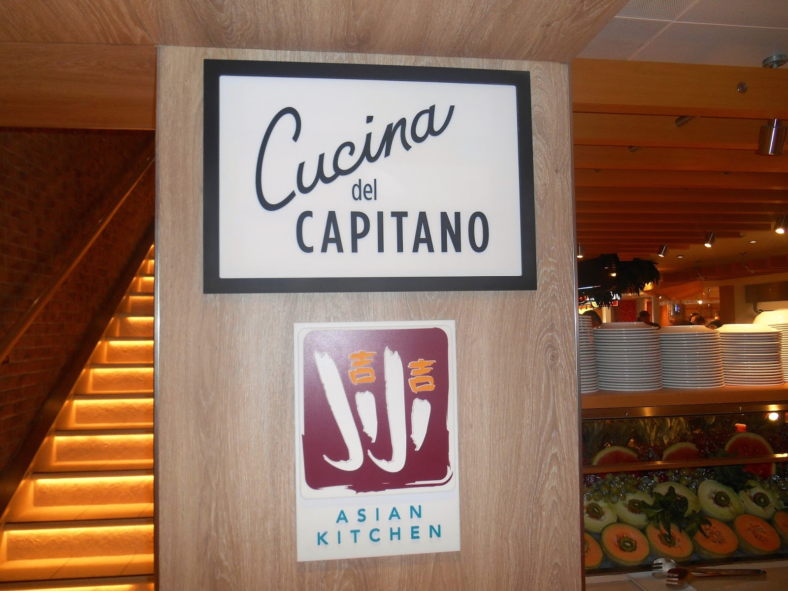 Carnival Magic Cucina Del Capitano Lunch Menu Lefty Writes Day 7 Our Second Fun Day At Sea On The