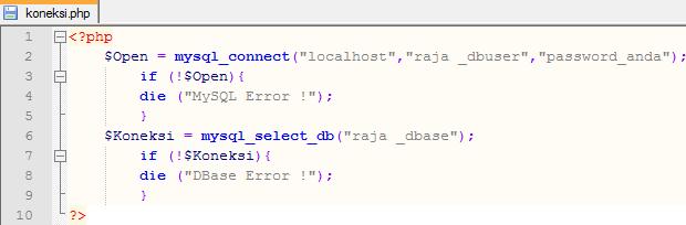 cara setting koneksi database di cPanel hosting