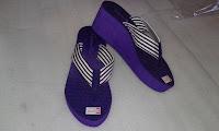 Sandal Wedges Wanita (Carvella Kelom)