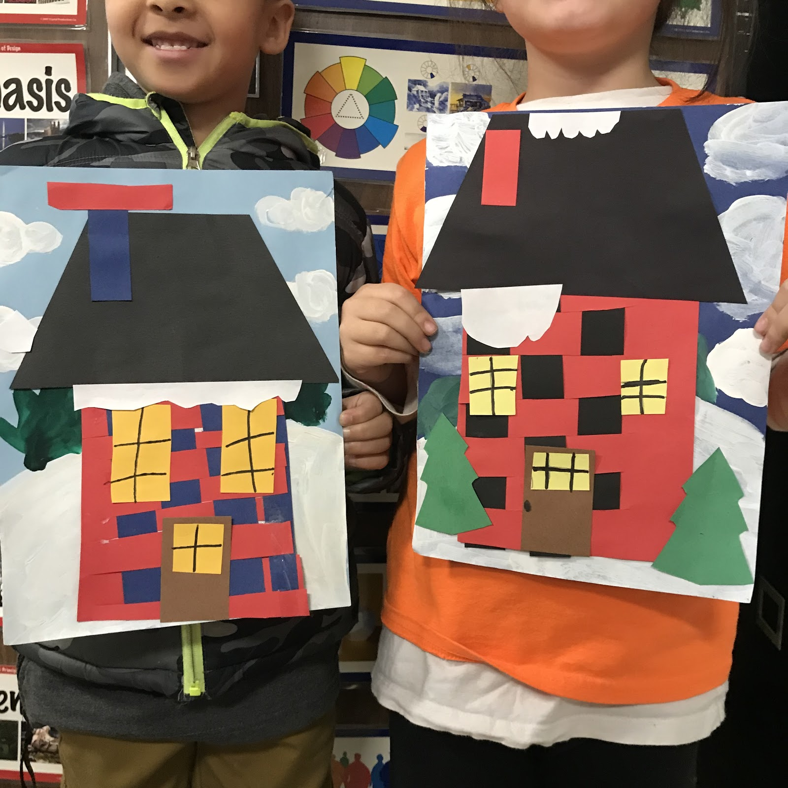 Elements Of The Art Room 1st Grade Woven Winter Houses