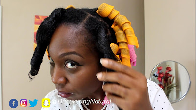 NO HEAT CURLS using CURLFORMERS on type 4 NATURAL HAIR DiscoveringNatural