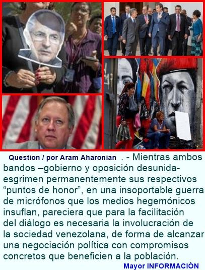 Venezuela: un diálogo (de sordos) a grito pelado