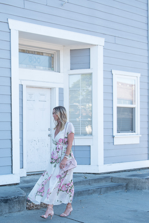 flowy floral print dress