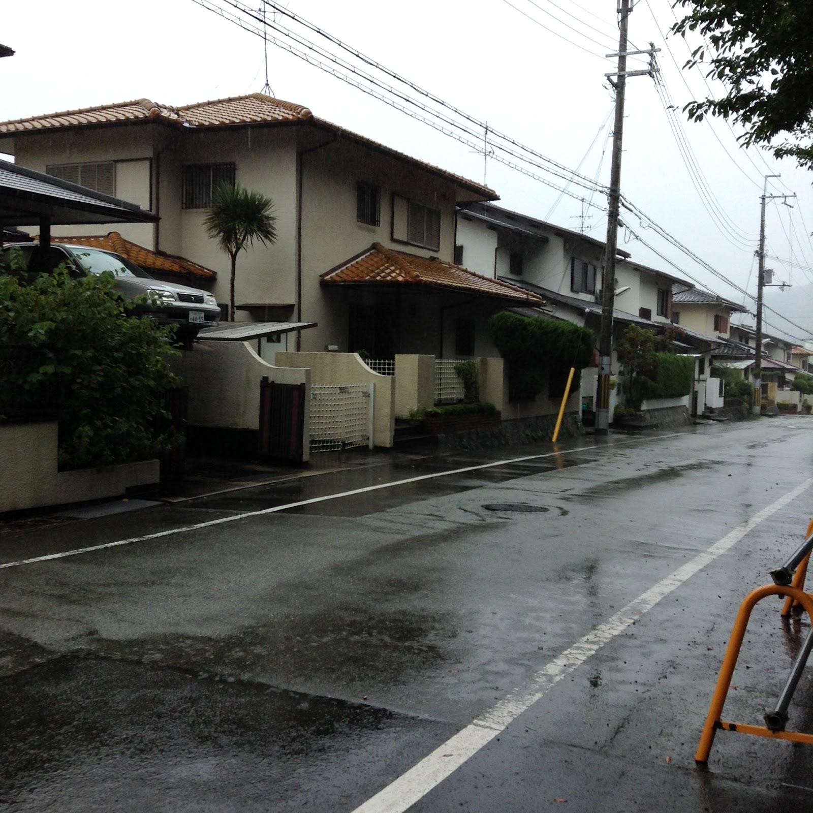 Japanese suburbs Minoh Osaka
