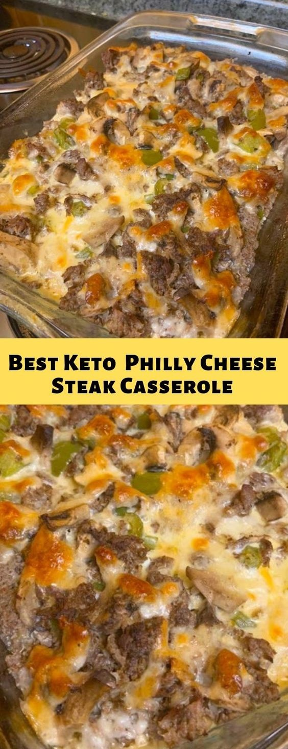 Best Keto Low-Carb Philly Cheese Steak Casserole