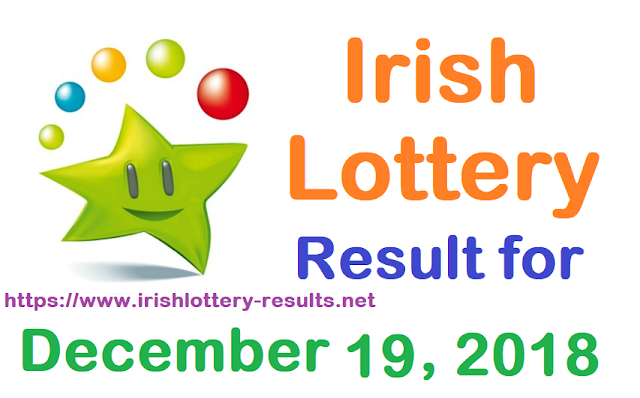 Irish Lottery Result for Wednesday, 19 December 2018