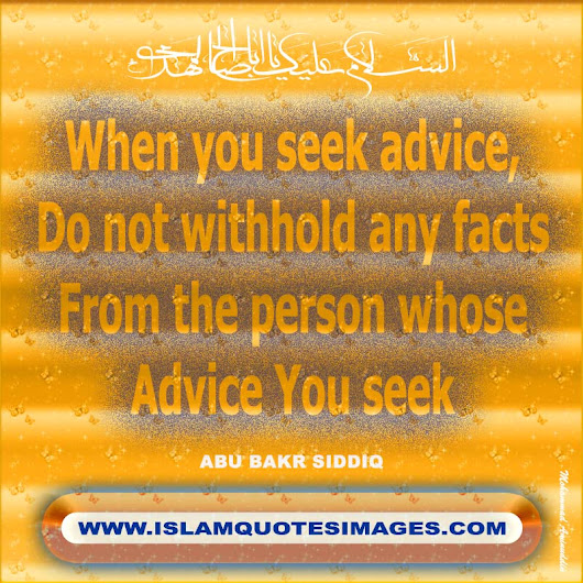 When You Seek Advice Do Not Withhold Any Facts