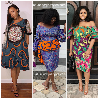 CHIC AND CLASSY ANKARA SHORT GOWN DRESSES FOR BEAUTIFUL LADIES