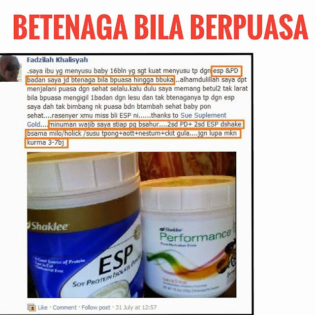 Testimoni performance drink