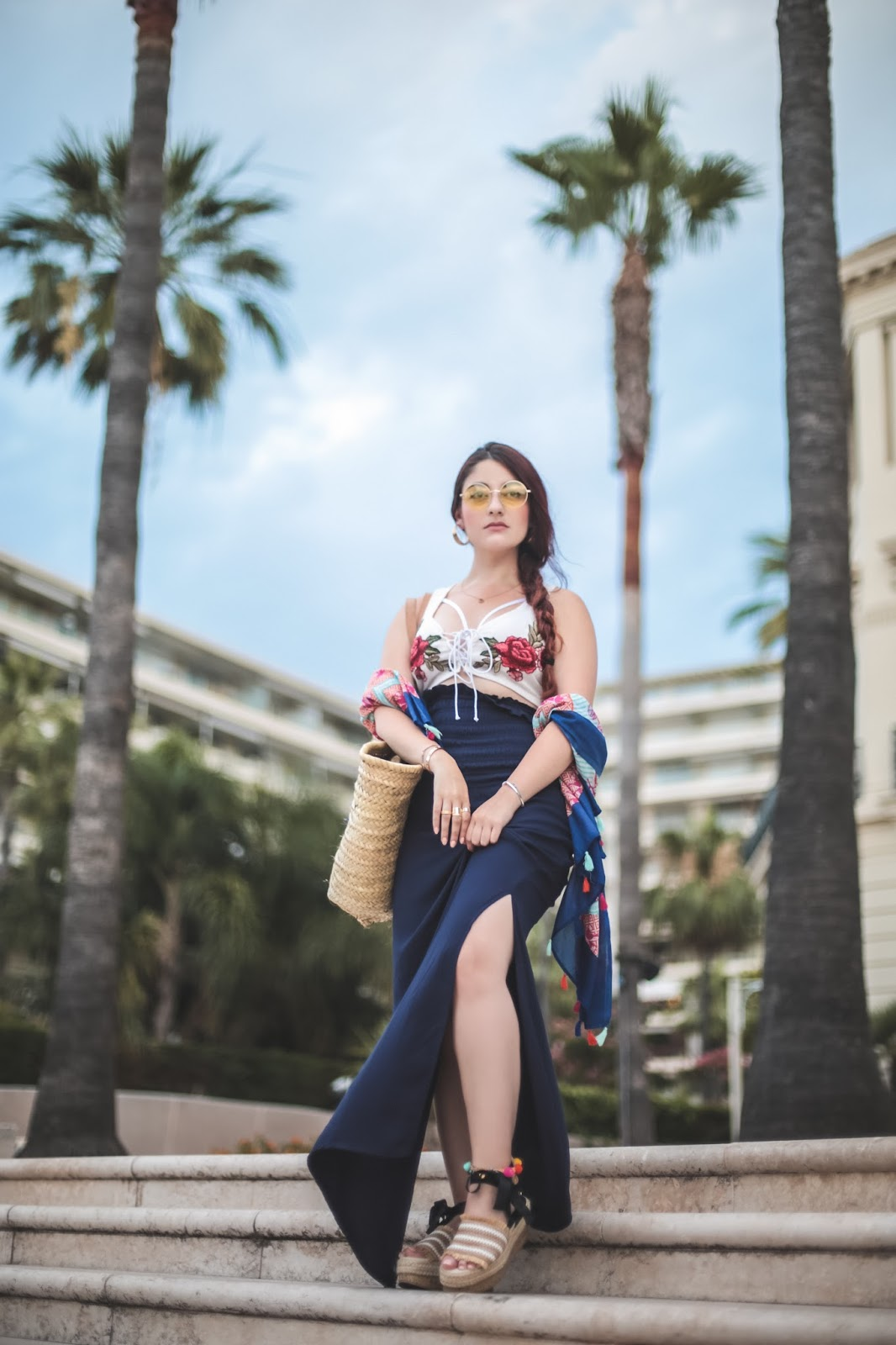 foulard à pompons blog mode