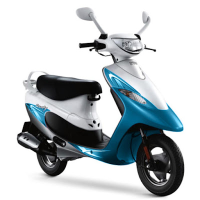 2016 TVS Scooty Pep Plus Hd Wallpaper white & blue color