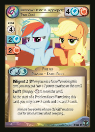 My Little Pony Rainbow Dash & Applejack, Two Cool Defenders of Equestria CCG Card