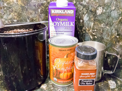 Ingredients for Homemade Pumpkin Spice Latte