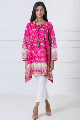 latest summer women's kurta shalwar kameez