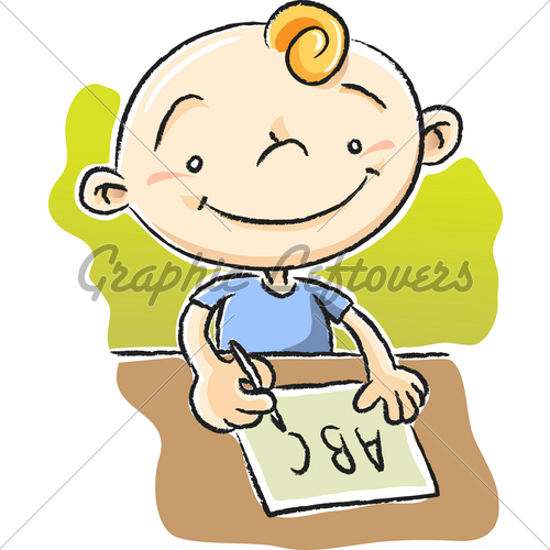 Cute girl cartoon stock photos