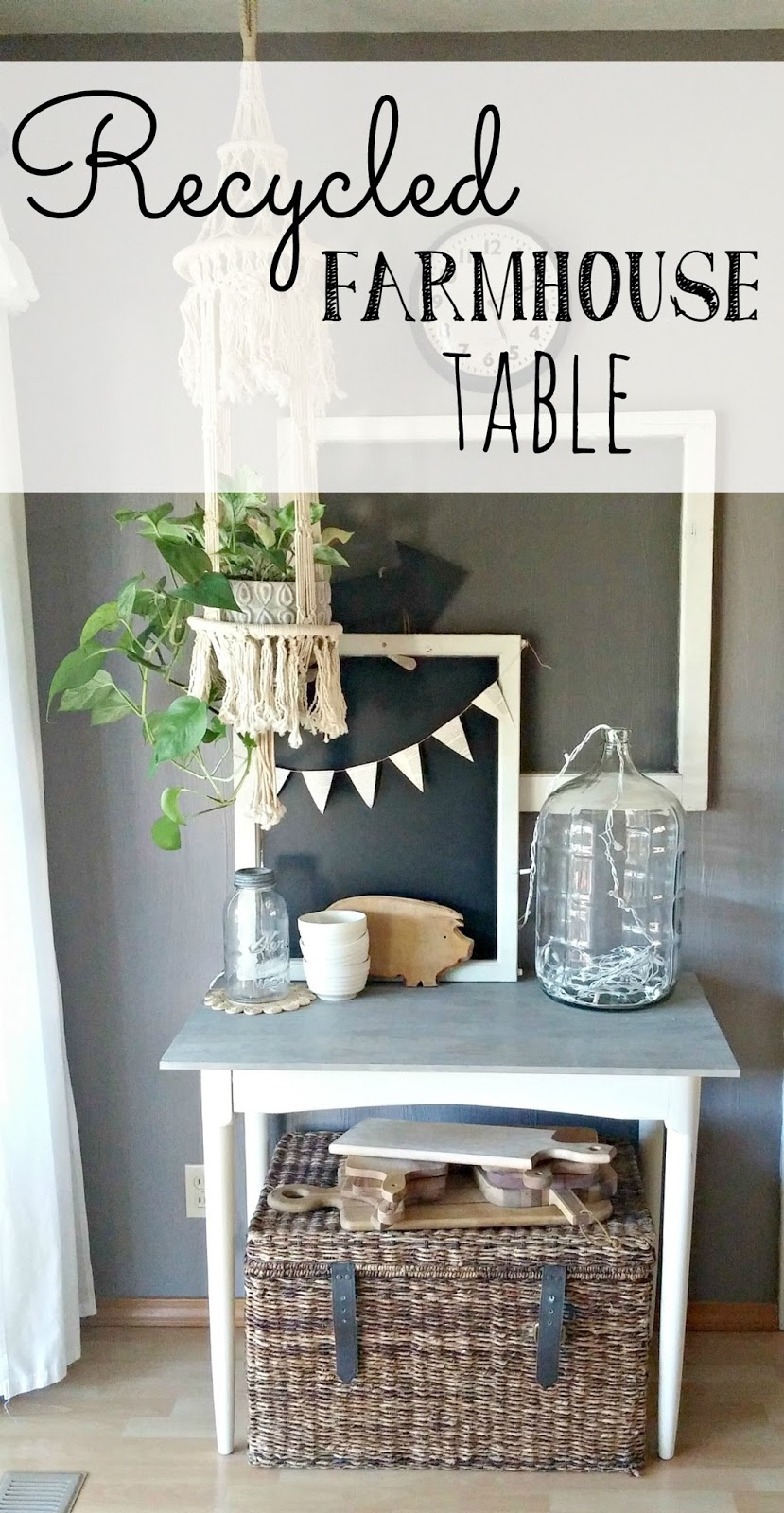 Recycled Farmhouse Table