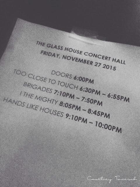 Courtney Tomesch Dissonants Tour Pomona The Glass House Hands Like Houses