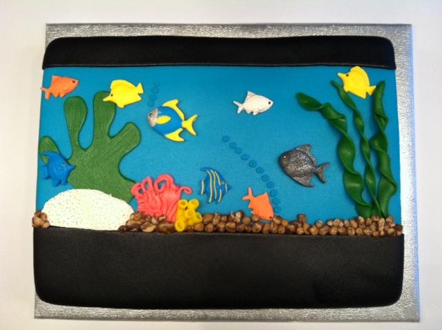 aquarium taart Aquarium met vissen taart | Taarten; Gemaakt door Jonne aquarium taart
