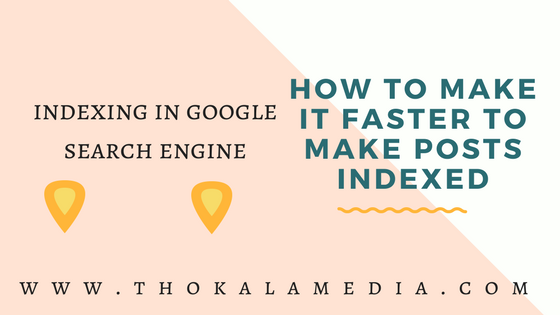 How to make it faster to make Posts indexed in Internet web network